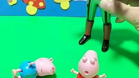 怪兽去了小猪的房子,佩奇乔治没有住的房间,奥特曼要帮助小猪