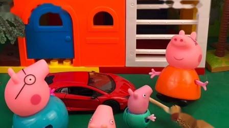 小猪家要大扫除,于是交给猪爸爸,可是猪爸爸有点懒