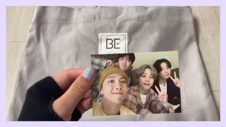 BTS 开箱 BE专辑 周边产品