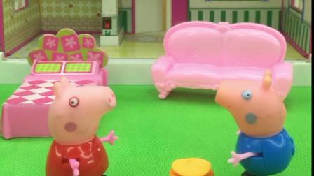 佩奇和乔治抢着吃汉堡,乔治找猪妈妈评理,汉堡应该是谁的呢?