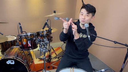 星星老师架子鼓教学视频课,鼓棒握法与手腕正确发力