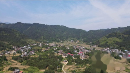 航拍源口瑶乡风景  拍摄高度120至420米