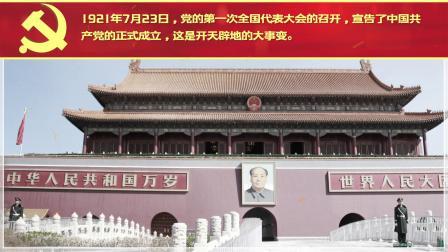 AE996 党建100周年党史介绍图文AE模板