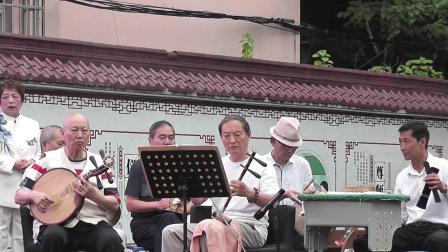 杨俭  许招娣六一儿童节在三小演唱《打龙袍》选段2021,6,1
