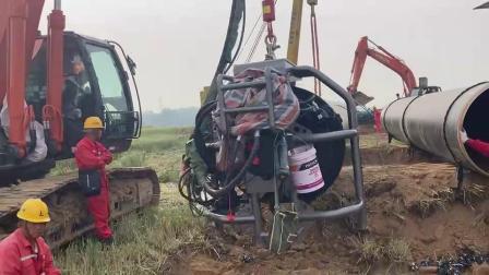 德平科技48英寸坡口机参与山东南干线1