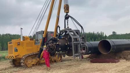 德平科技48英寸管道坡口机参与山东官网南干线2