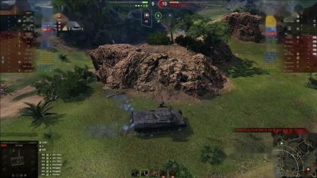 坦克世界  全球顶豹1纯伤1.25W与高压锅10杀临危不惧