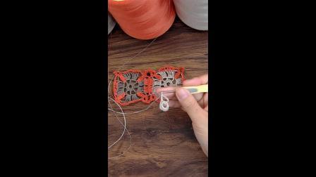 小辛娜娜编织教程:栀子花开圆领罩衣钩针教程手工编织夏天镂空衫