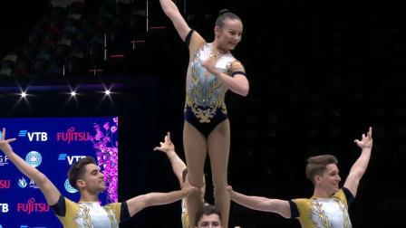2021健美操世锦赛 集体五人 冠军