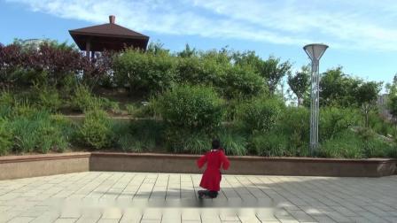 秦皇岛芳菲广场舞学跳蒙古舞两座山老桂背面演示阳光给我青春的光泽__05