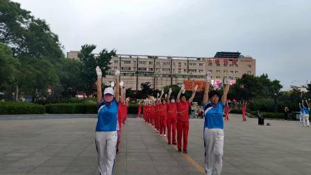 《山海关榆关广场健身操队》健身操录像片段