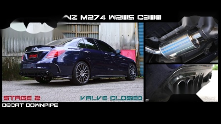 Mercedes Benz W205 M274 C300 / Stone Turbo-back Exhaust System