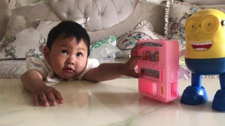 小黄人玩具小宝亲子益智游戏饮料机玩具