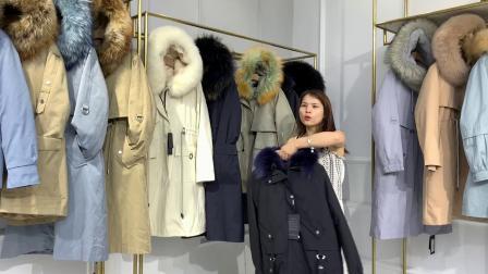 W 澜芯尚品品牌冬装皮草派克服