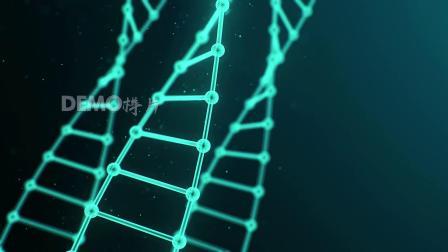 d597 4K画质炫酷蓝色DNA线条基因组运动HUD元素科技感计算机互联网大数据视频素材ae后期视频合成特效素材 pr素材 ae素材