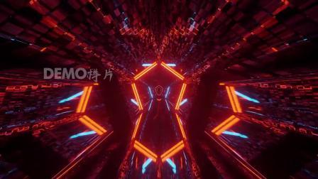 d600 超酷蓝色线条光线灯光光管闪烁灯光秀超酷隧道穿梭街舞爵士舞新疆舞欢乐聚会炫酷激光秀架子鼓表演大屏幕舞台led背景视频素材 pr素材 ae素材