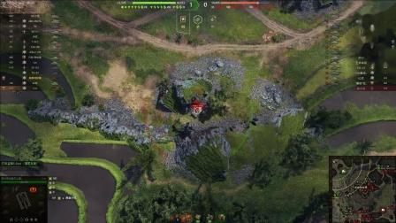 坦克世界 核弹火炮太猛队友选择躺赢