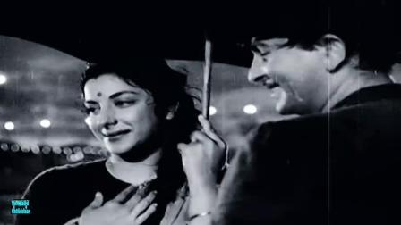 【黑白怀旧】宝莱坞老一辈女星 Nargis 50年代经典电影《骗子先生》经典插曲 Pyaar Hua-Shree 420