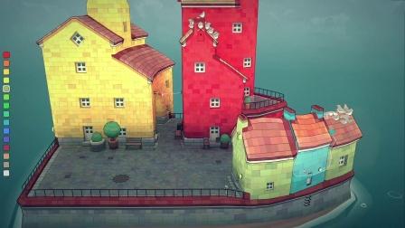 【3DM游戏网】《Townscaper》8月结束抢先体验