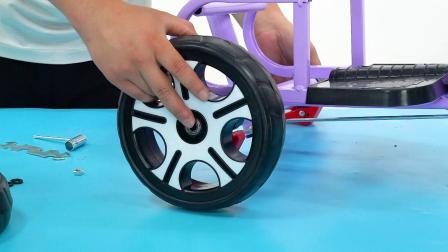 儿童双人三轮车安装视频