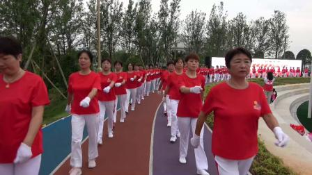 中国共产党成立100周年 广昌红十字会志愿者庆典 齐步走