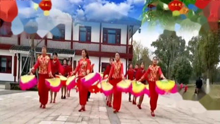 双扇舞 满堂红 泰和长寿健身队教学用