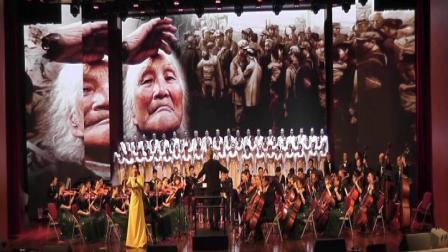 上饶老年大学合唱团、交响乐团、谭建指挥王佳丽领唱混声合唱《天下乡亲》2021,6,22