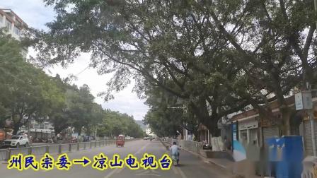 西昌月城公交POV:121路市人力资源市场、名店街开往川兴、大兴(原速原音版)