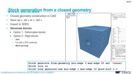 Webinar  Meshing solutions in 3DEC 7 0