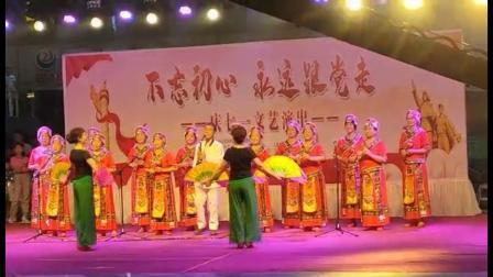 葫芦丝红歌联奏北京建帮华庭社区庆七一文艺演出