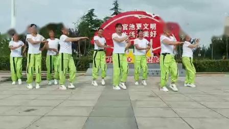 大荔凤玲广场舞《再唱山歌给党听》团队版