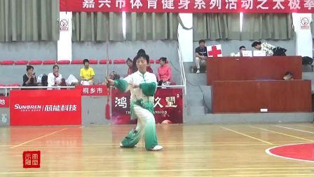 南湖区老年体协.王计香表演.32式太极剑