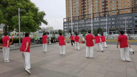 晋中太极协会迎宾绿苑健身站庆祝建党一百周年3