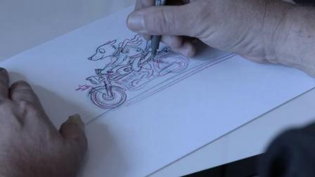 Tony Flowers illustrating with watercolour