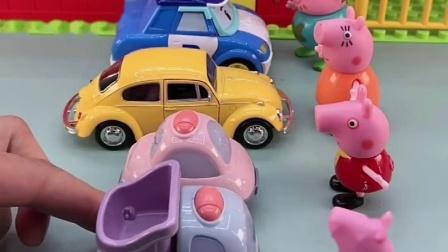少儿亲子玩具: 乔治跟着小汽车一起去修路了