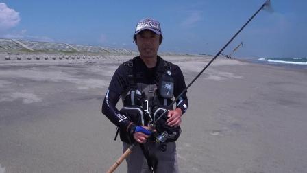 沙滩滩钓 铁板岸抛钓一样能钓到大鱼,哈哈哈