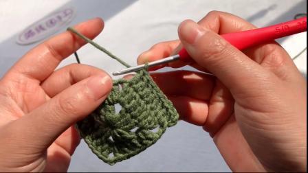 零基础如何学习钩编?从一块祖母花片开始吧