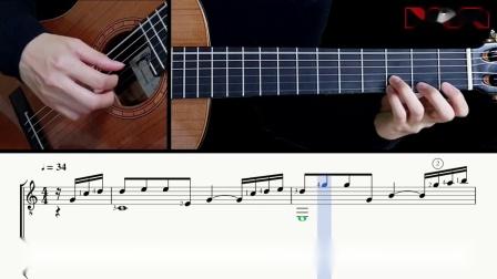 雨的印记Kiss the Rain-李闰珉-吉他带谱教学-有谱-GQ313-11
