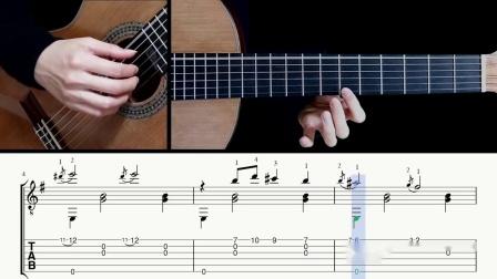 玄秘曲第1号-萨蒂-吉他带谱教学-有谱-GQ313-8