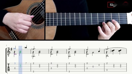我需要你Je Te Veux -萨蒂-吉他带谱教学-有谱-GQ313-10