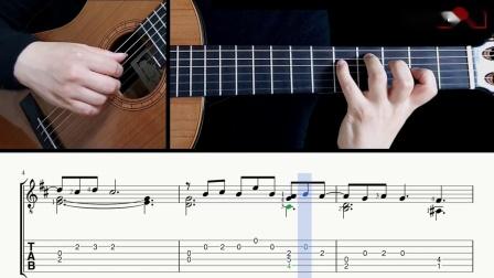 德彪西-月光-吉他带谱教学-有谱-GQ313-7