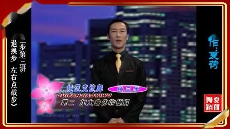 中国体育舞蹈联合会摩登舞一级教师(彭伟&王金玲)摩登舞维也纳华尔兹(快三步第三讲)《后退换步 左右点截步》示范教学