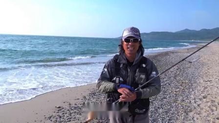 新泄冲浪 目标比目鱼 铁板路亚 铁板岸抛钓法