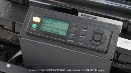 怎样更换P8000系列盒式色带