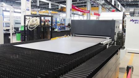 海目星激光卷料切割机,一体化自动生产线,高效省料省人工!