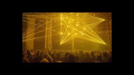 激光跟踪升降球效果——动态激光装置和视听现场表演