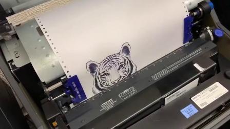 普印力P8HD打印图片虎虎生威