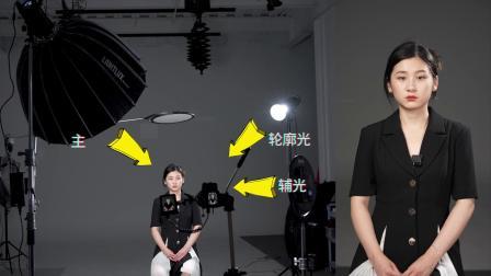 抖音博主新闻采访主播炫彩背景布光效果