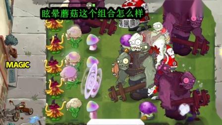 植物大战僵尸眩晕蘑菇组合怎么样