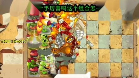 植物大战僵尸三发射手挑战巨人僵尸